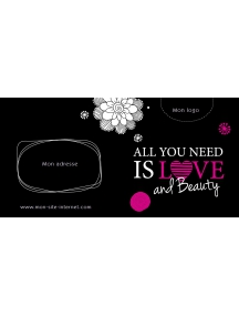 Bon cadeau - All you need is love and beauty