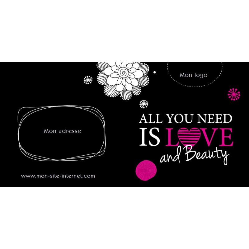 Bon cadeau - All you need is love and beauty
