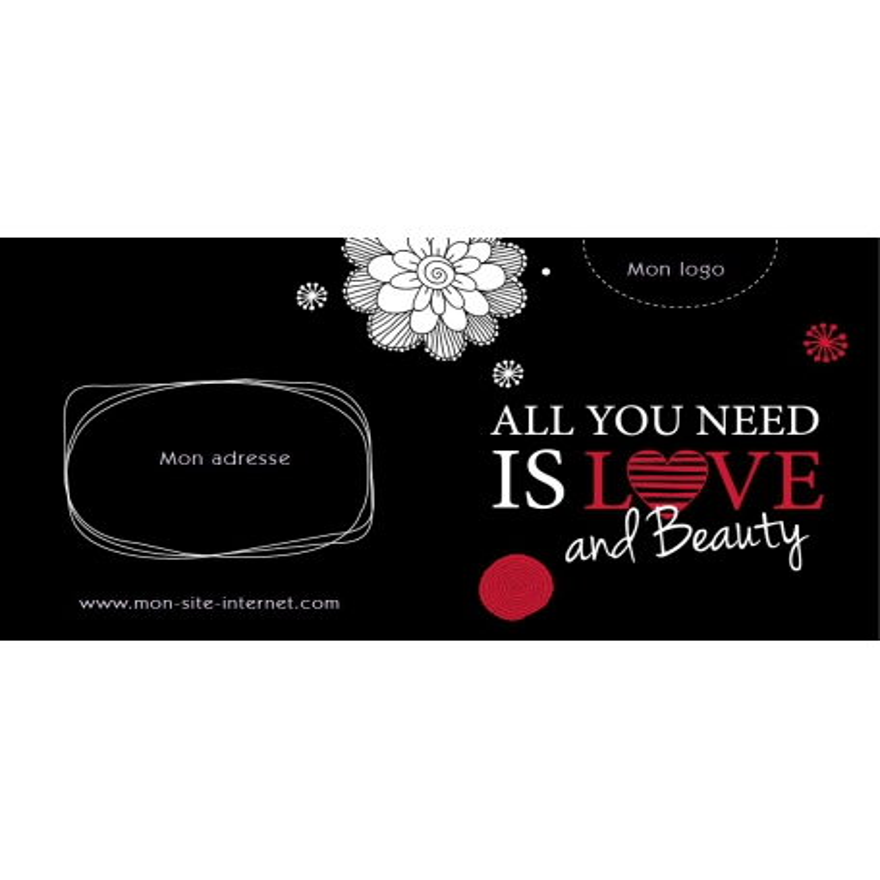 Bon cadeau - All you need is love and beauty LOVE
