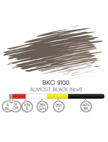 Pigmento 8 ml. Almost Black - BKO 9100