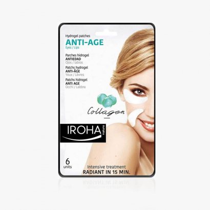 Patches IROHA.Anti Age Collagène Yeux et lèvres-Hydrogel-(6 patches)-P-IN/04