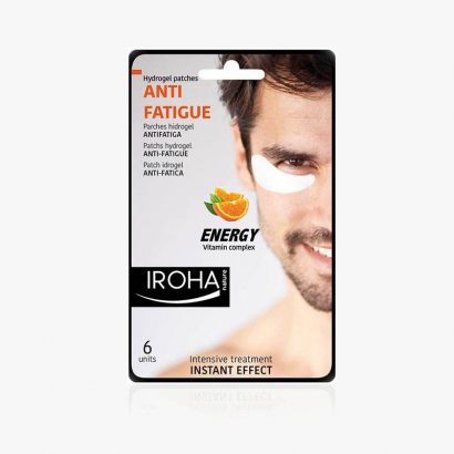 HOMME IROHA-Patches Yeux Anti fatigue-Complexe Vitaminique-23ml (6 patches)-P-IN/06