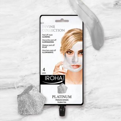 IROHA PLATINUM Masque crème éclairant Peel- Off