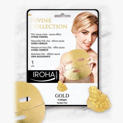 IROHA GOLD Masque tissu Foil effet sauna - Hydra Fermeté