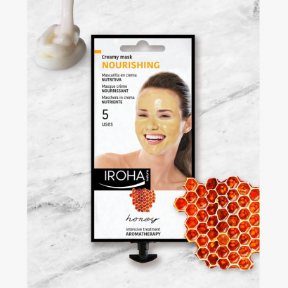 IROHA Beauty Time -Masque visage Crème - Miel