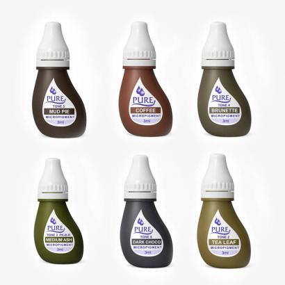 Pack  de 6 Pigmentos homologados para cejas