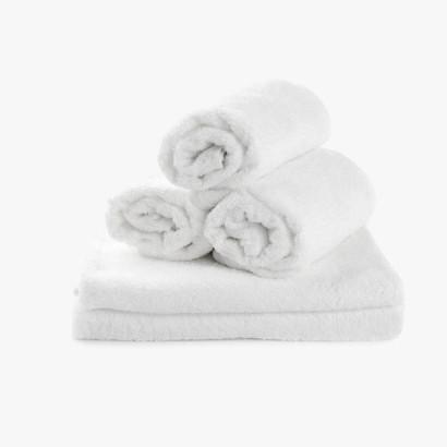Serviette en coton 100% blanc - 520gr - 30x50cm