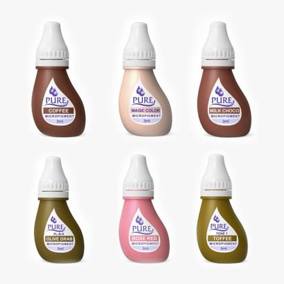 Pack  de 6 Pigmentos homologados para areolas