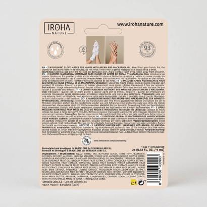 IROHA Gants Pro mains/ongles- Extra doux - huile d'argan