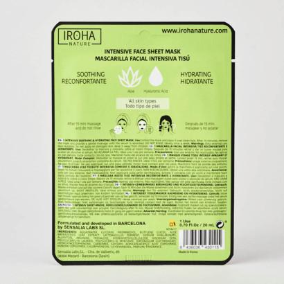 MASQUE TISSU IROHA-Hydratant Aloe Vera + Acide Hyaluronique